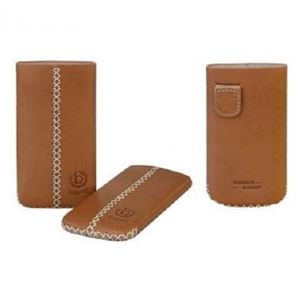 Θήκη πουγκί BUGATTI leather cross brown iphone 4G/4S